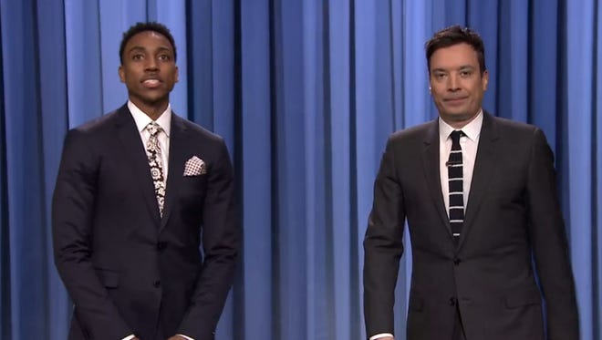 Jeff Teague and  Jimmy Fallon on the 'Tonight Show'