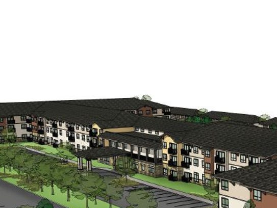 This drawing shows the Affinity senior living community