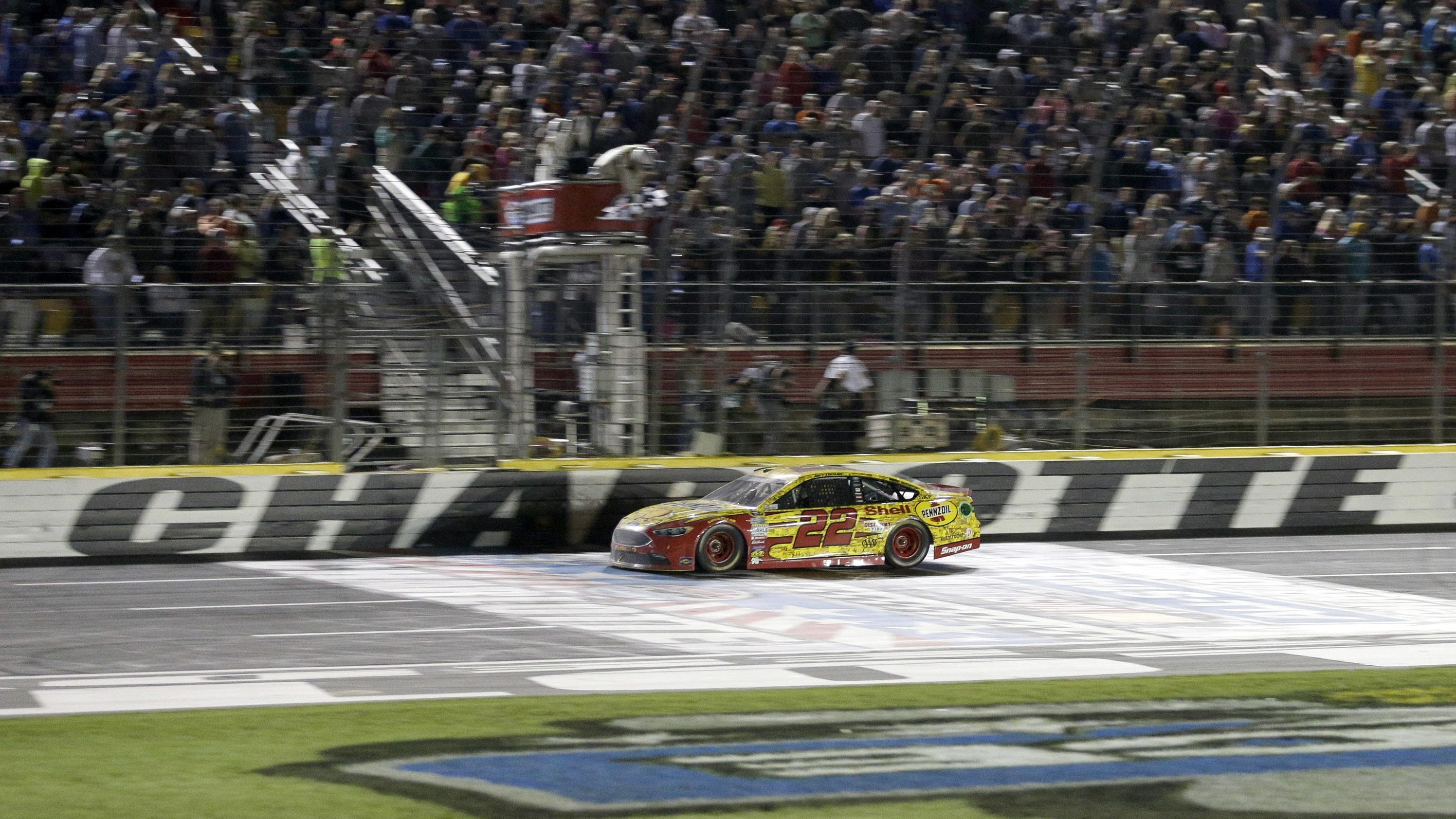 Joey logano beats larson in unusual all star race for Charlotte motor speedway zip code
