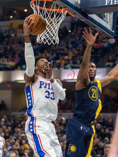 Feb 3, 2018; Indianapolis, IN, USA; Philadelphia 76ers