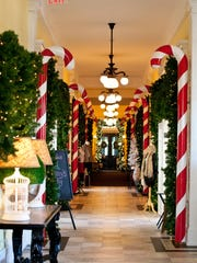 Deck the halls: A walkway at Congress Hall is dressed