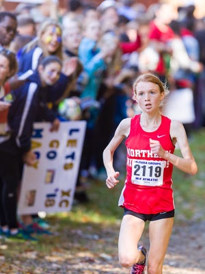 Monica Hebner, whose time Saturday was the fastest ever run by a North Jersey runner in the 11 years the Bowdoin Park (Wappinger Falls, N.Y.) course, heads to Portland, Oregon for nationals on Dec. 2.