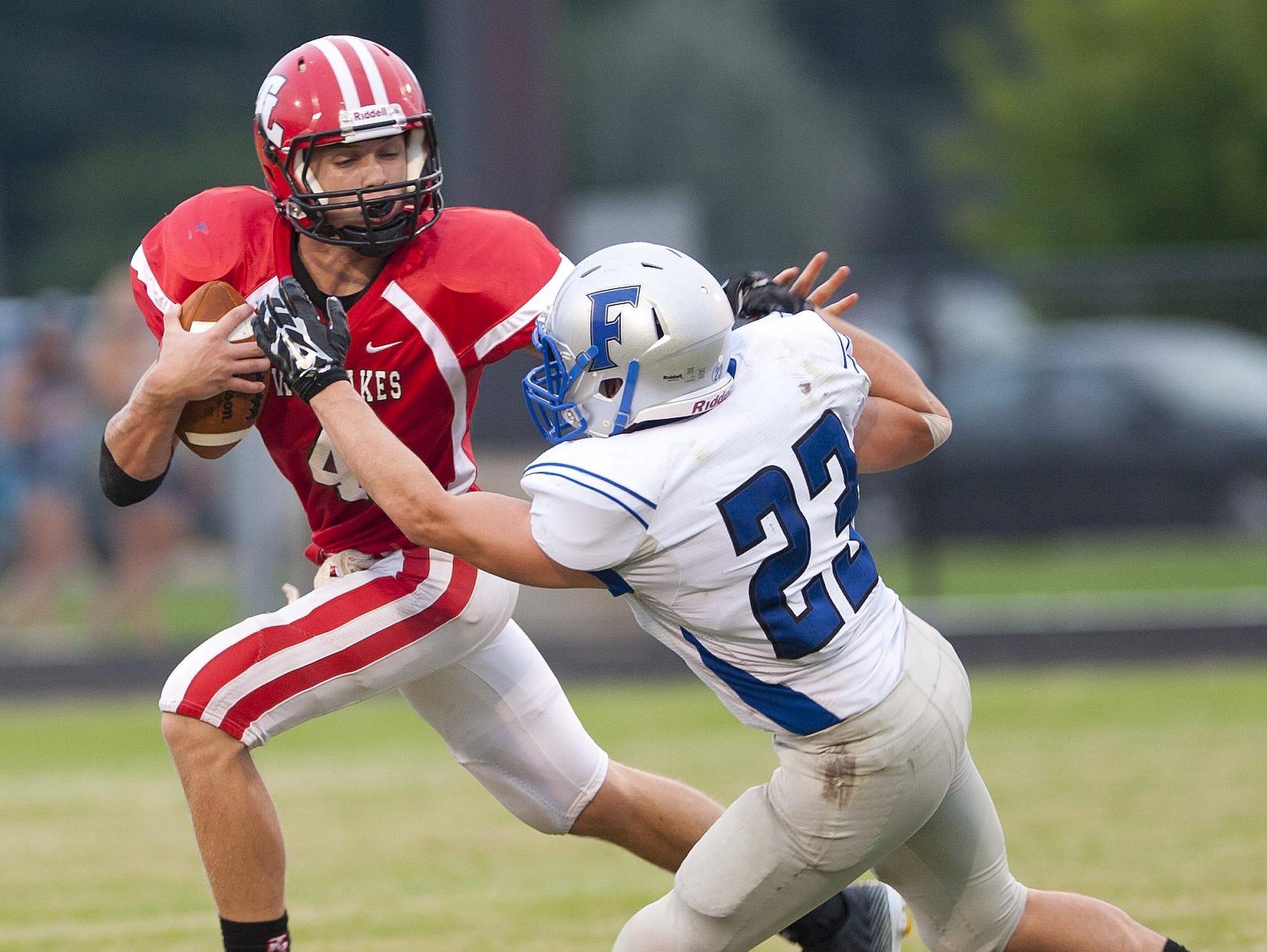 Quarterback Blake Bennington has scored 10 touchdowns during Twin Lakes' 4-1 start.