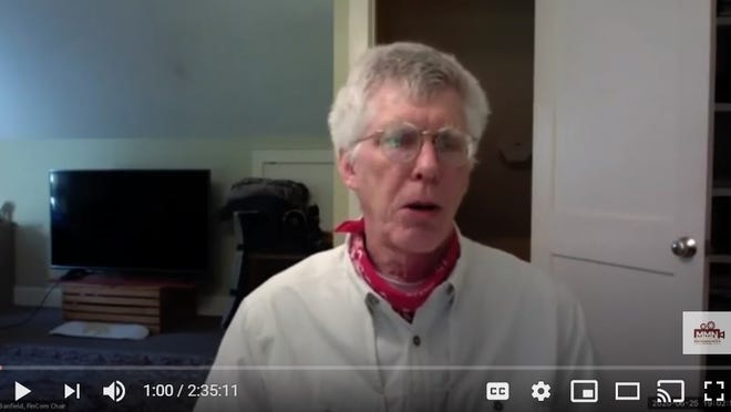 Concord FINCOM Chair Dean Banfield addresses the committee during its virtual meeting on June 25.