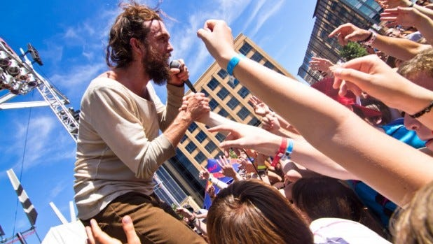 Edward Sharpe at the 2011 80/35 Music Festival