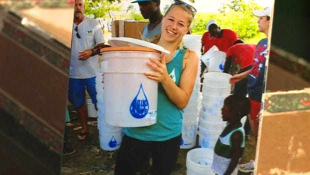 """Sarah Stubbs lives her life by a certain saying: """"Let the world change you and you can change the world."""" Changing the world is something she's doing one water filter at a time."""