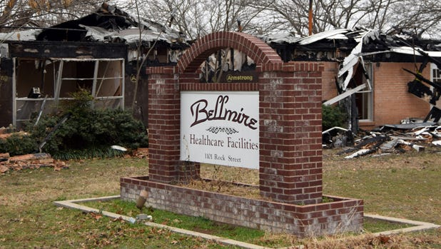 This section of the Bellmire Healthcare Center on Rock Street in Bowie that burned on Dec. 31, 2016, could be demolished to make way for new apartments.