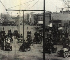 Fort Collins' College Avenue is seen in 1908.