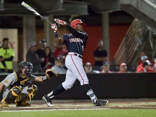 UL's Steven Sensley delivers the first home run at