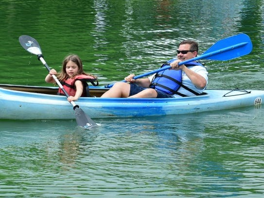 Jillian Neal and dad Rick of Canton enjoy a leisurely
