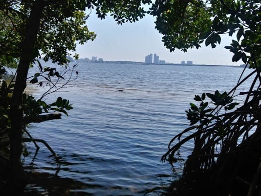 View from River's Edge area of North Fort Myers, where the City of Fort Myers, across the river, is interested in building a city boat ramp.