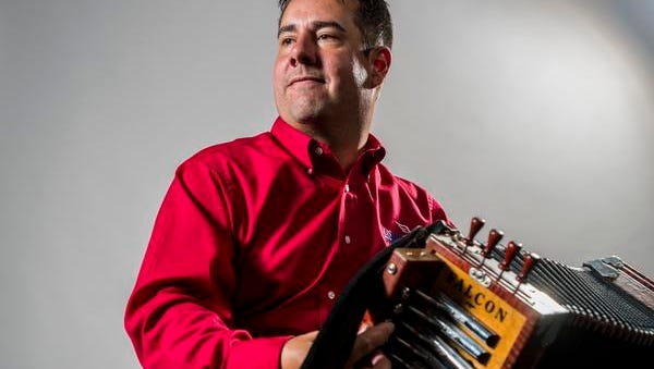 Cajun musician Kevin Naquin of Kevin Naquin & The Ossun Playboys poses for photographs in Lafayette.