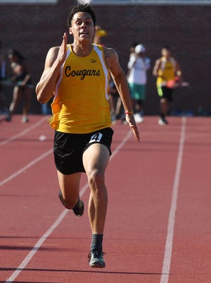 Wellington Ventura, of Cresskill, en route to a North 1, Group 1 championship in the boys 100 meters, to go along with his win in the 400 on Friday, May 25, 2018 at Clifton High School. On Saturday, the senior added  dominating wins in the 200 and long jump.