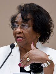 Mary Briers during the Montgomery County School Board