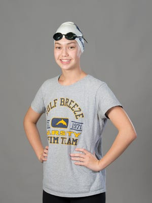 Cali Wilson - swimming - Gulf Breeze High School - 2017-Fall-All Area Athlete - portrait in Pensacola on Wednesday, November 15, 2017.