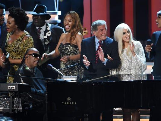 Stevie Wonder, Tony Bennett, Lady Gaga, Jennifer Hudson