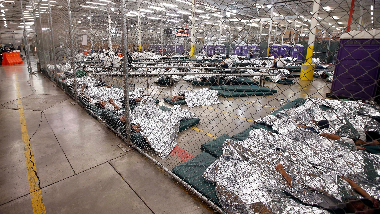 First peek: Immigrant children flood detention center
