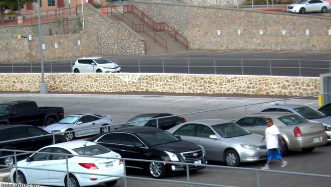 A black 2016 Cadillac XTS was stolen from an EPCC's parking lot on June 21. Investigators are asking for the public's assistance in identifying the allege thief.