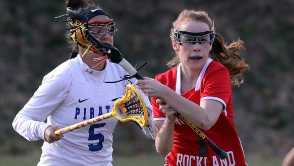 Phoebe Mullarkey of North Rockland controls the ball