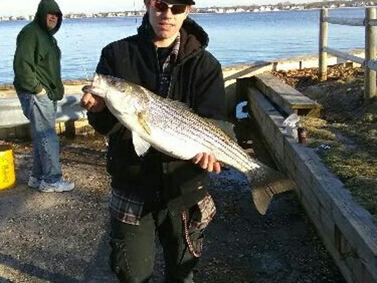 Keeper bass start to bite on toms river for Murphy s hook house fishing report
