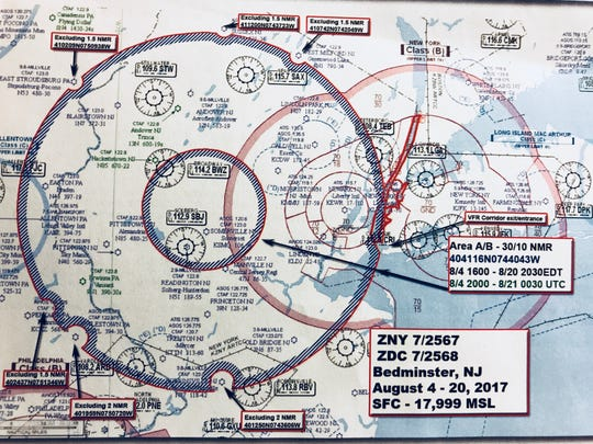 A diagram provided to pilots at an FAA Safety Team