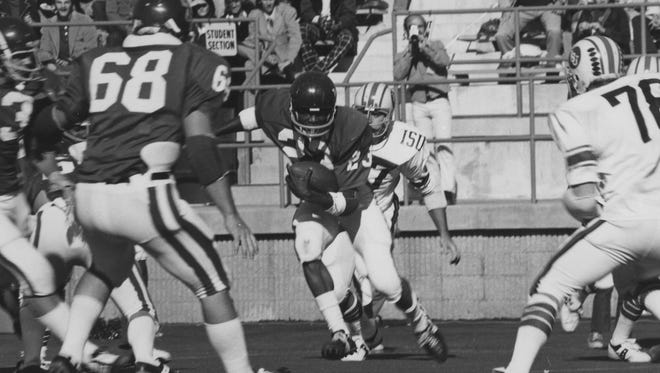 Jerry Gaines (23), an All-American in three sports at Western Carolina, died Sept. 5, 2017, in Chesapeake, Virginia. He was 65.