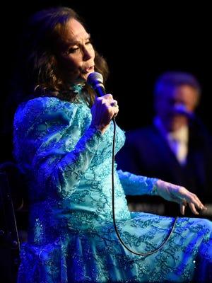 Loretta Lynn performs at the Ryman Auditorium Friday, April 14, 2017 in Nashville, Tenn.