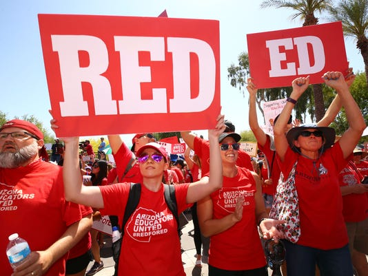 Arizona teacher rally at the Arizona State Capitol