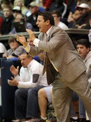 St. Thomas More coach Danny Broussard, shown here in