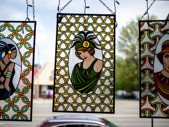 Stained-glass artwork by Cecil Williams is displayed at Studio 1219 in downtown Port Huron in 2017. Officials with the agencies that own the studio property said they believe goals to share art with the community will remain if a purchase agreement on the site moves forward.
