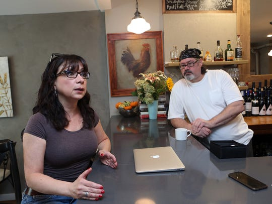 Maria Santini and Kevin Reilly, owners of Roost Restaurant