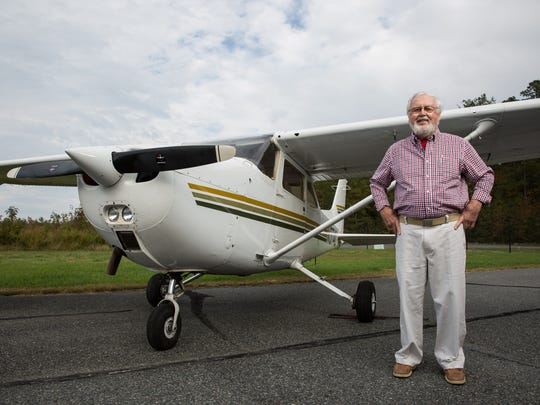 Robert Dobbs, of Onancock, poses for a photo at Accomack County Airport on Monday, Nov. 6, 2017.