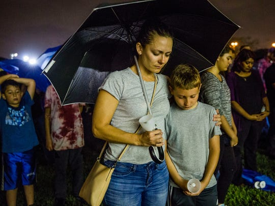 Holly Labarca and her son Oliver, 10, of Coral Springs,