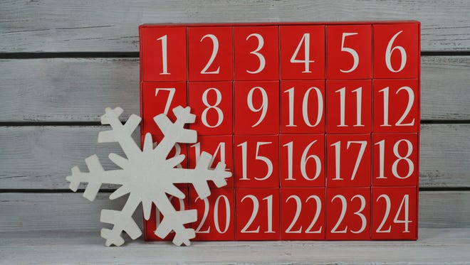 Instead of a traditional Advent calendar full of treats, make each day a different small task as a way to help others.