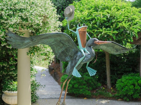 A series of 18 whimsical frog sculptures will be installed throughout Kingwood Center Gardens during Ribbit the Exhibit, opening Aug. 5.