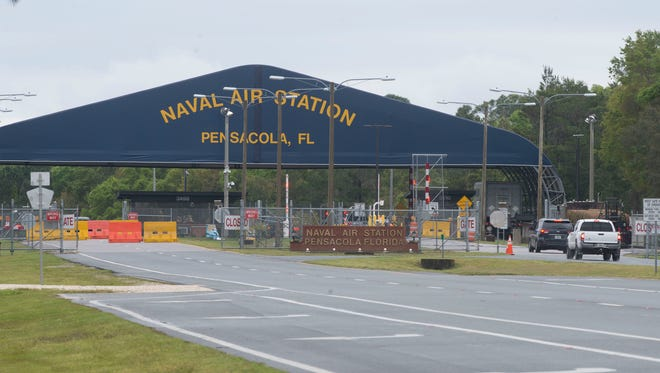 Pensacola Naval Air Station back gate.