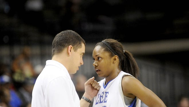 Robert E. Lee's Angela Mickens helped the Lee Ladies and head coach Jeremy Hartman win a state championship in 2012.