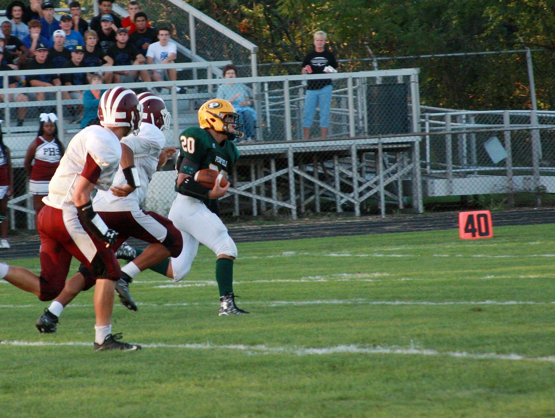 Pennfield junior Sam Nichols breaks loose for a touchdown Thursday evening
