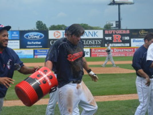 Mat Gamel's walk-off home run ended Game 1 after 12 innings, and he kept his hot day going in Game 2 (Photo: Somerset Patriots)