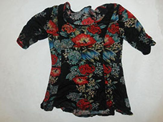 Two blood-stained blouses were found alongside an infant's head in November at a Farmingdale recycling facility, authorities say. The blouses had not tags, but their sizes were believed to be petite or medium.