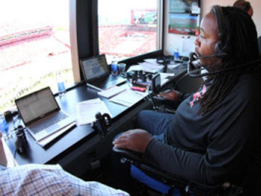 Eric LeGrand's burgeoning broadcasting career took another step Wednesday when he was hired by Big Ten Network as a football studio analyst. BTN spiced up its on-air talent with several names familiar to Rutgers' fans. (File photo)