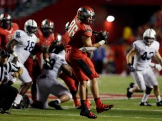 Rutgers tight end Tyler Kroft has just five catches for 50 yards after his breakout performance in 2013. (AP)