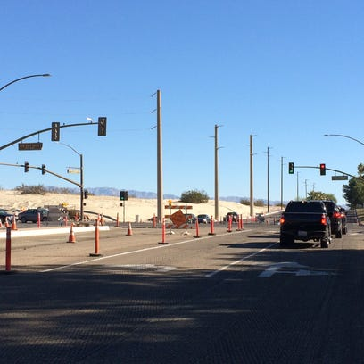 Rancho Mirage intersection widening almost done
