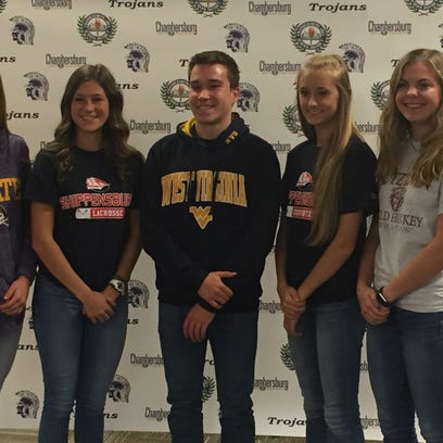Five Chambersburg athletes sign college letters of intent