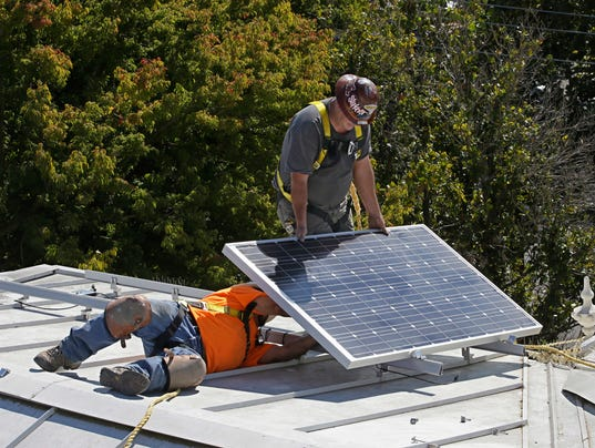 AP CALIFORNIA SOLAR PANELS A FILE USA CA
