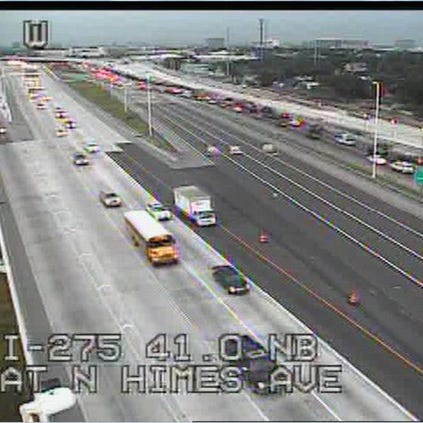 Traffic building on I-275