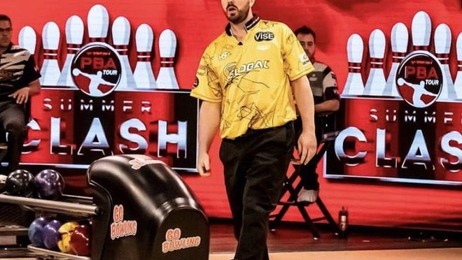 Sean Rash reacts after one of his strikes while winning the Summer Clash in Jupiter earlier this month.