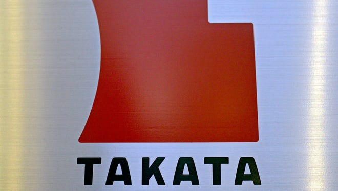 04629973.jpg epa04629973 (FILE) A file picture dated 11 April 2013 shows the logo of Japanese auto-parts supplier Takata Corp. at the company Tokyo headquarters in Tokyo, Japan. The US government issued a hefty daily fine on 20 February 2015 against Japan's Takata Corp for failing to cooperate with a federal investigation into defective airbags. In issuing the 14,000-US-dollar-a-day fine, officials said Takata had not complied with the probe. The National Highway Traffic Safety Administration (NHTSA) launched an investigation late in 2014 asking for documentation and other material. More than 21 million vehicles have been recalled worldwide since mid-2014 to fix Takata's defective airbags. A malfunctioning inflator in the airbag may cause it to rupture and spray metal fragments at drivers and passengers. This month, Takata president Stefan Stocker stepped down amid the problems. Until December, Takata insisted that the problems only cropped up in areas of high humidity and said it would only fix the airbags in cars driven in such climates.  EPA/FRANCK ROBICHON