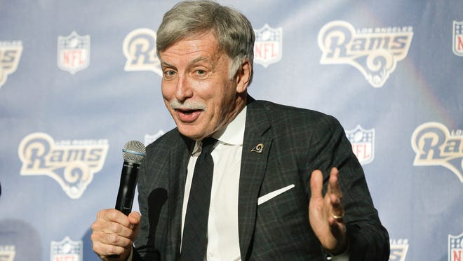 Rams owner Stan Kroenke hopes to be all smiles once QB Jared Goff takes over.