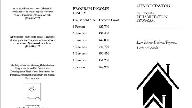 City of Stayton shares criteria involved in getting a Housing Rehabilitation Program loan for critical home repairs.